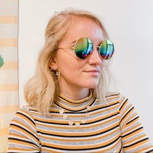 Accessories - Polarized Trendy Aviator Round Sunglasses